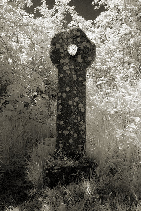 layd holed-stone cross
