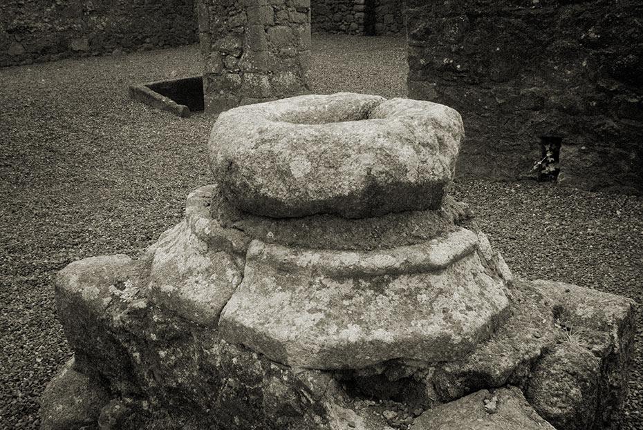 Bullaun stone - Castledermot Franciscan Friary