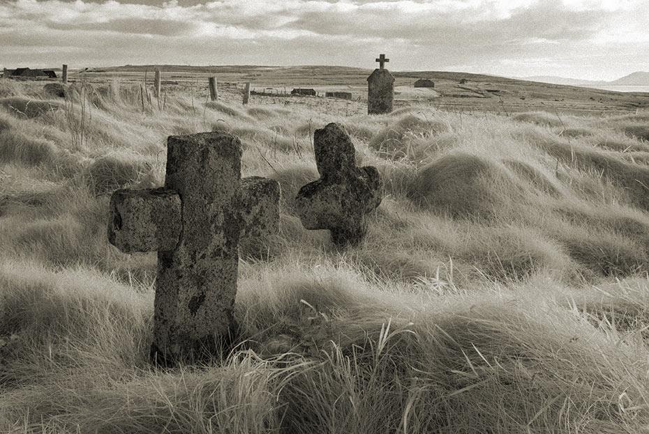 crosses St Deirbhile's Graveyard
