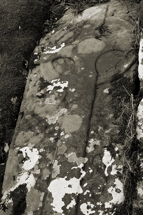 Celtic cross carved grave slab
