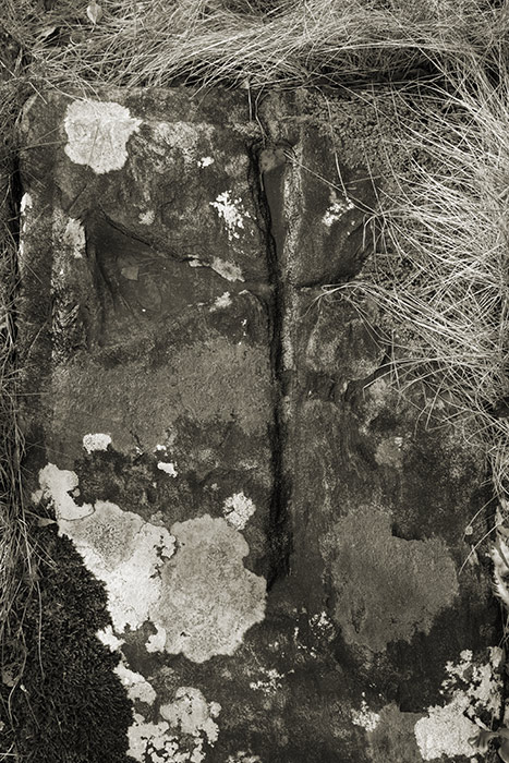 Crude carved cross slab