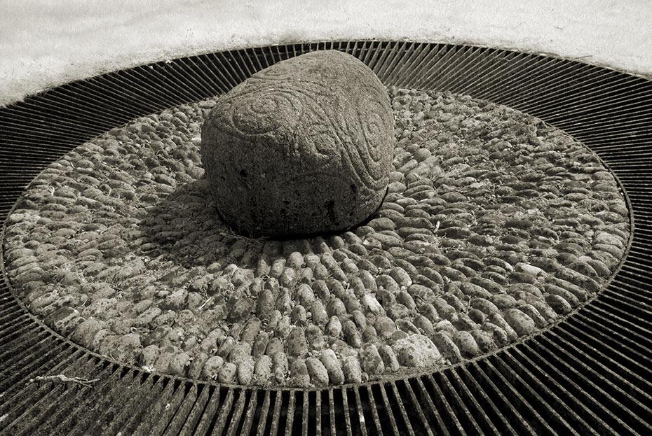 Castlestrange Stone in La Tène style