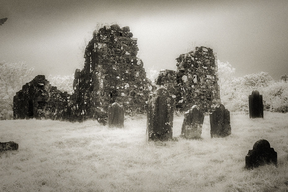 The old church and graveyard at Ballinascreen