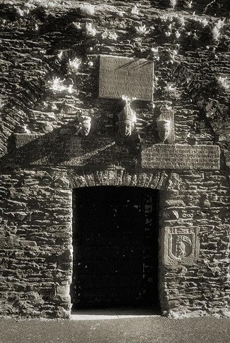 Kells Bell Tower entrance carvings