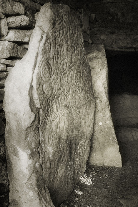 Loughcrew decorated stone - rock art