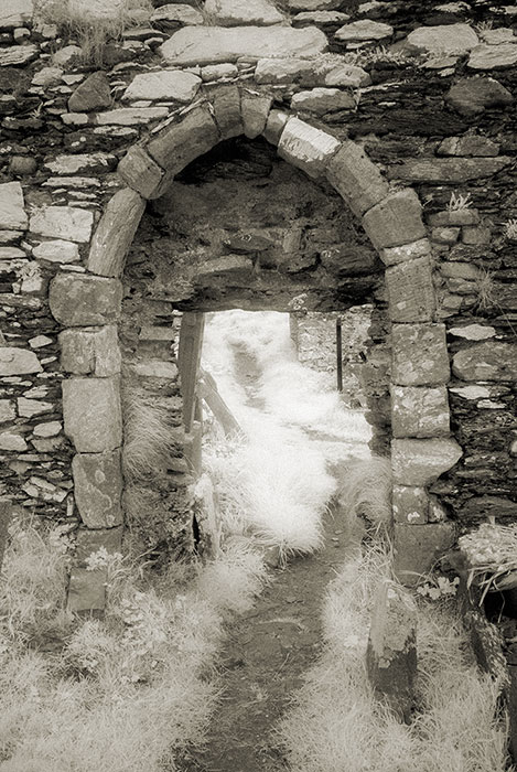Derrynane Abbey doorway