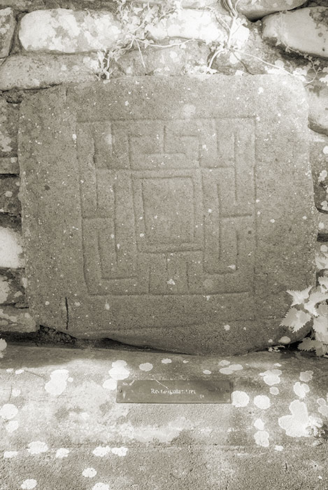 Carrowntemple slab No. 8, maze pattern
