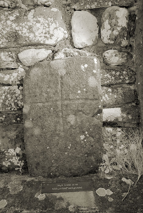 Carrowntemple slab No. 12, single liner cross