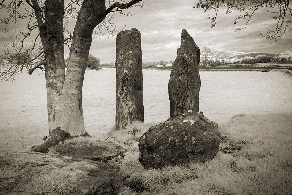The Standing Stones of the remains of Carnaghan Portal Tomb