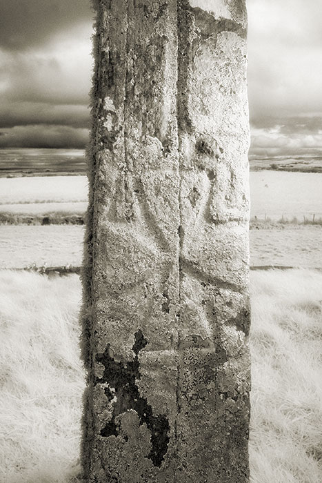 Detail of cross on Doonfeeny Standing Stone