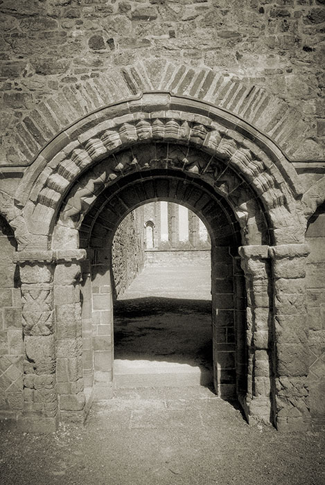 Cathedral's romanesque west doorway