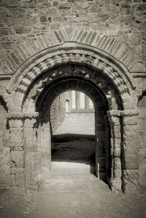 Cathedral's romanesque west doorway