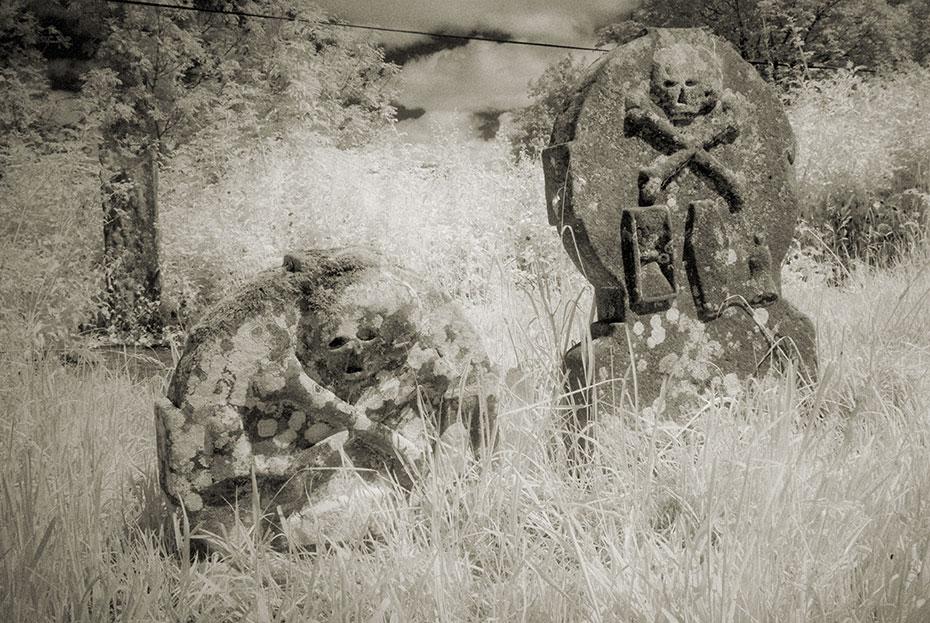 Galloon Graveyard gravestones