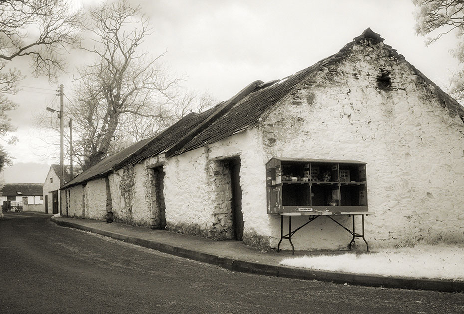 Old buildings, Ardminnan Road, Cloughey (Cloughy) (Cloghy), Ards Peninsula, Northern Ireland