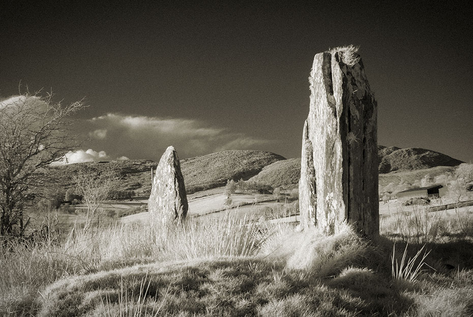 Standing stones at Barnes Lower, Donegal, Ireland